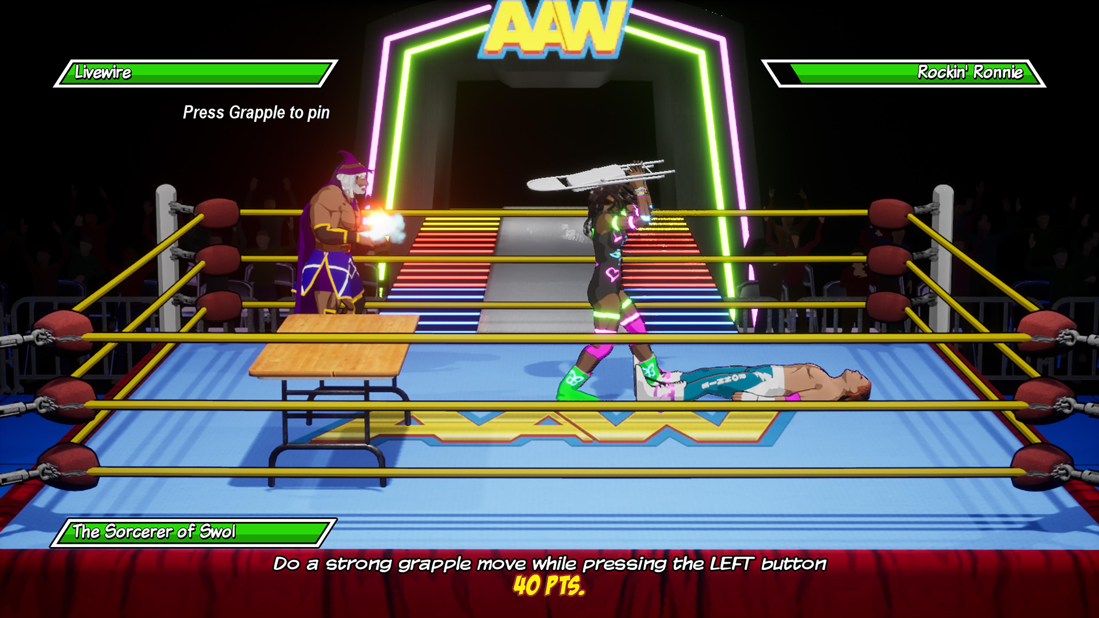 Скриншот №3 к Action Arcade Wrestling