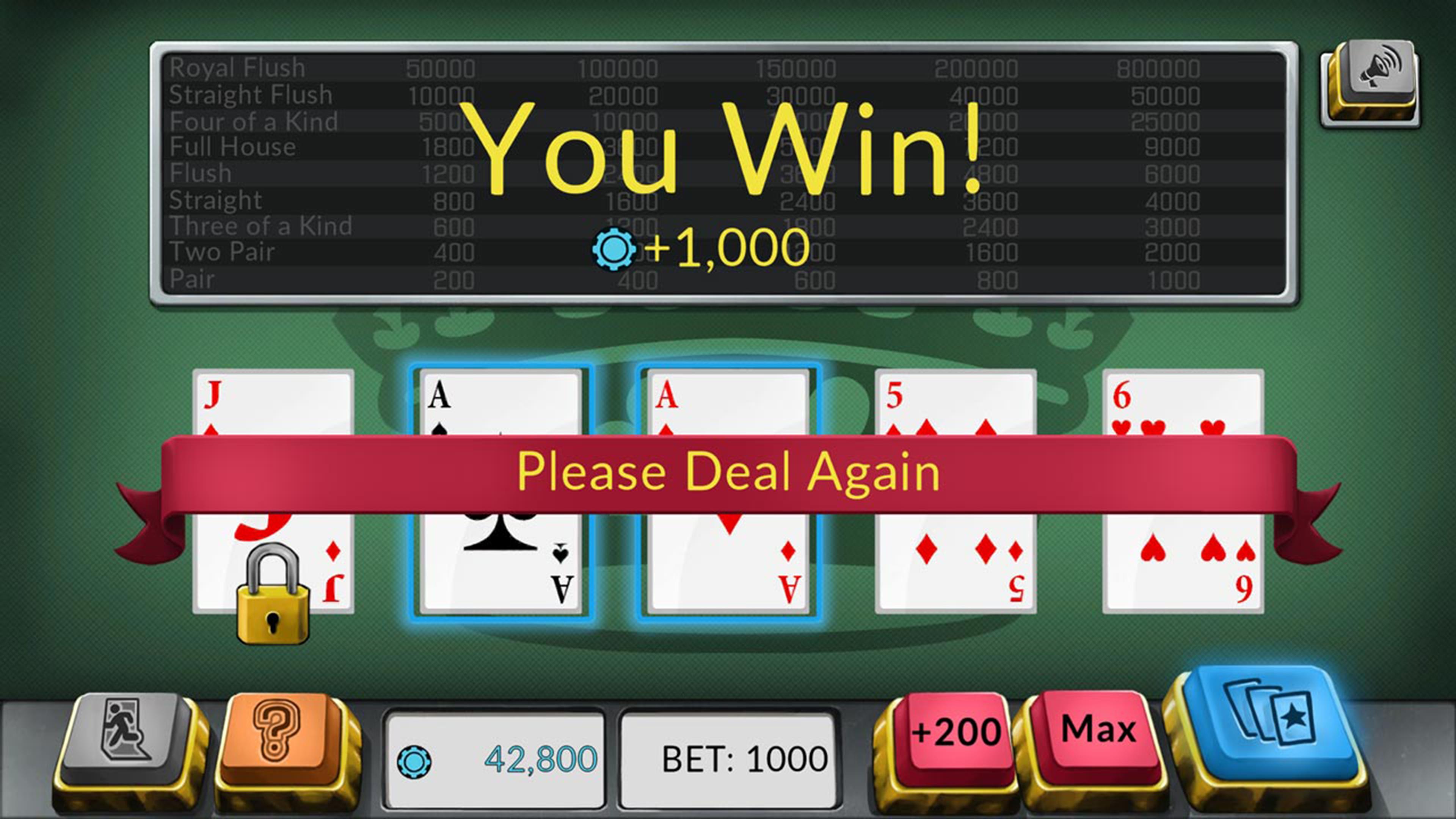 Скриншот №4 к Four Kings Видео покер