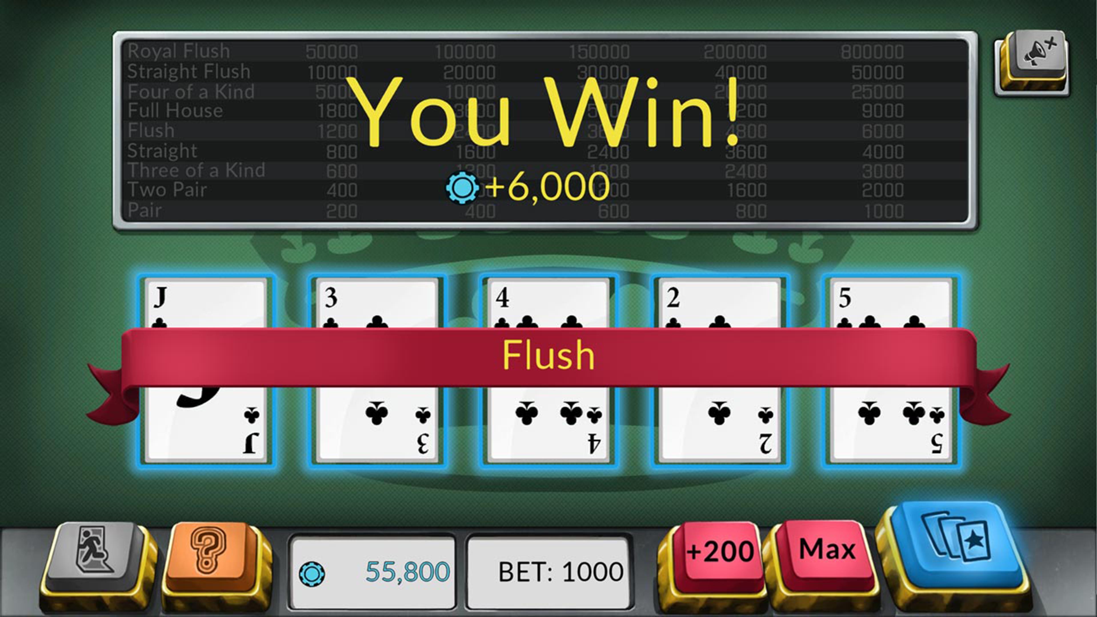 Скриншот №1 к Four Kings Видео покер