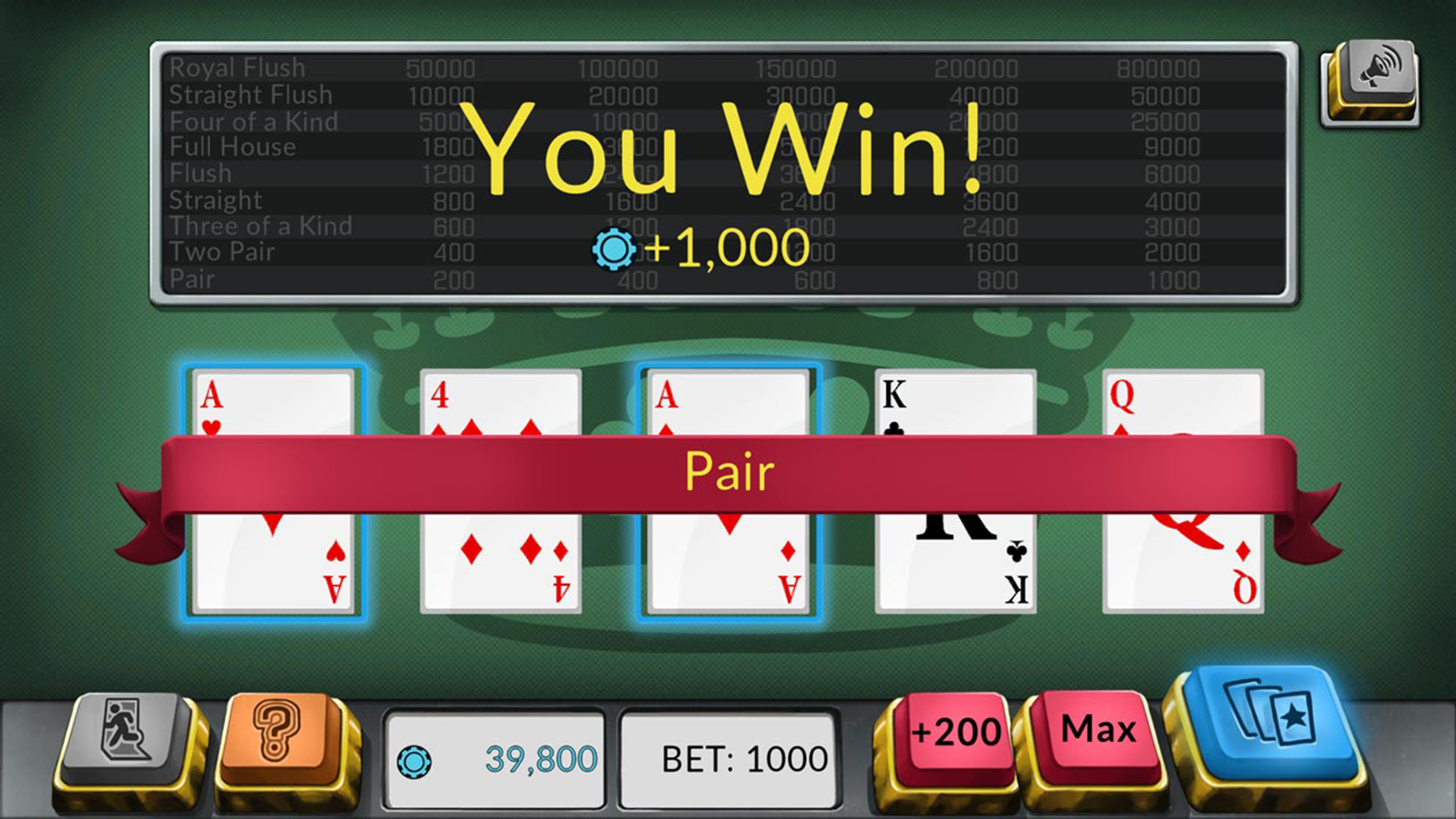 Скриншот №5 к Four Kings Видео покер