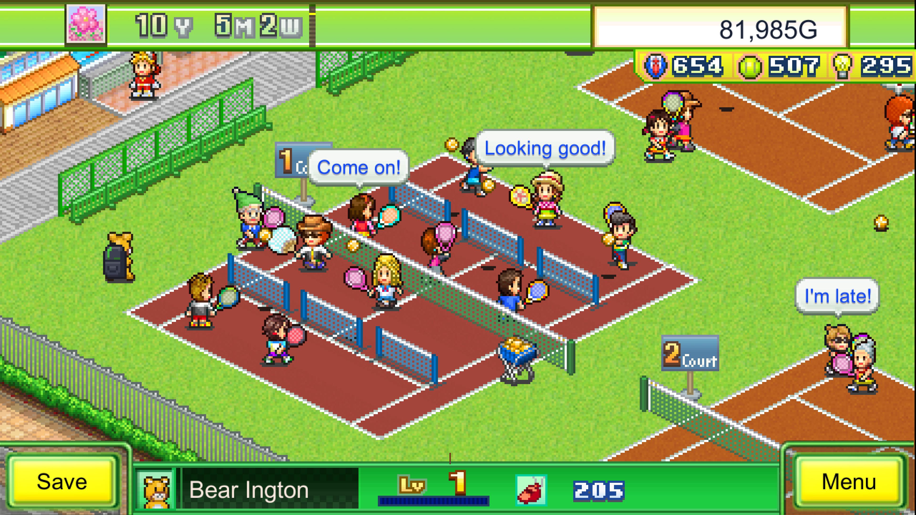 Скриншот №1 к Tennis Club Story