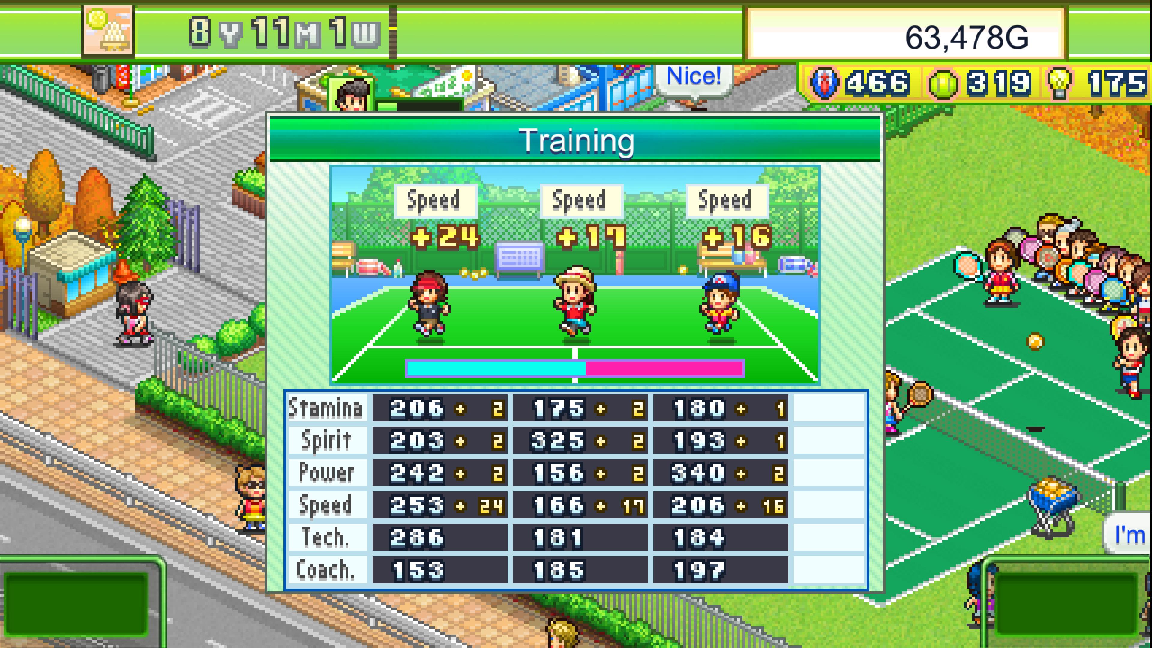 Скриншот №3 к Tennis Club Story