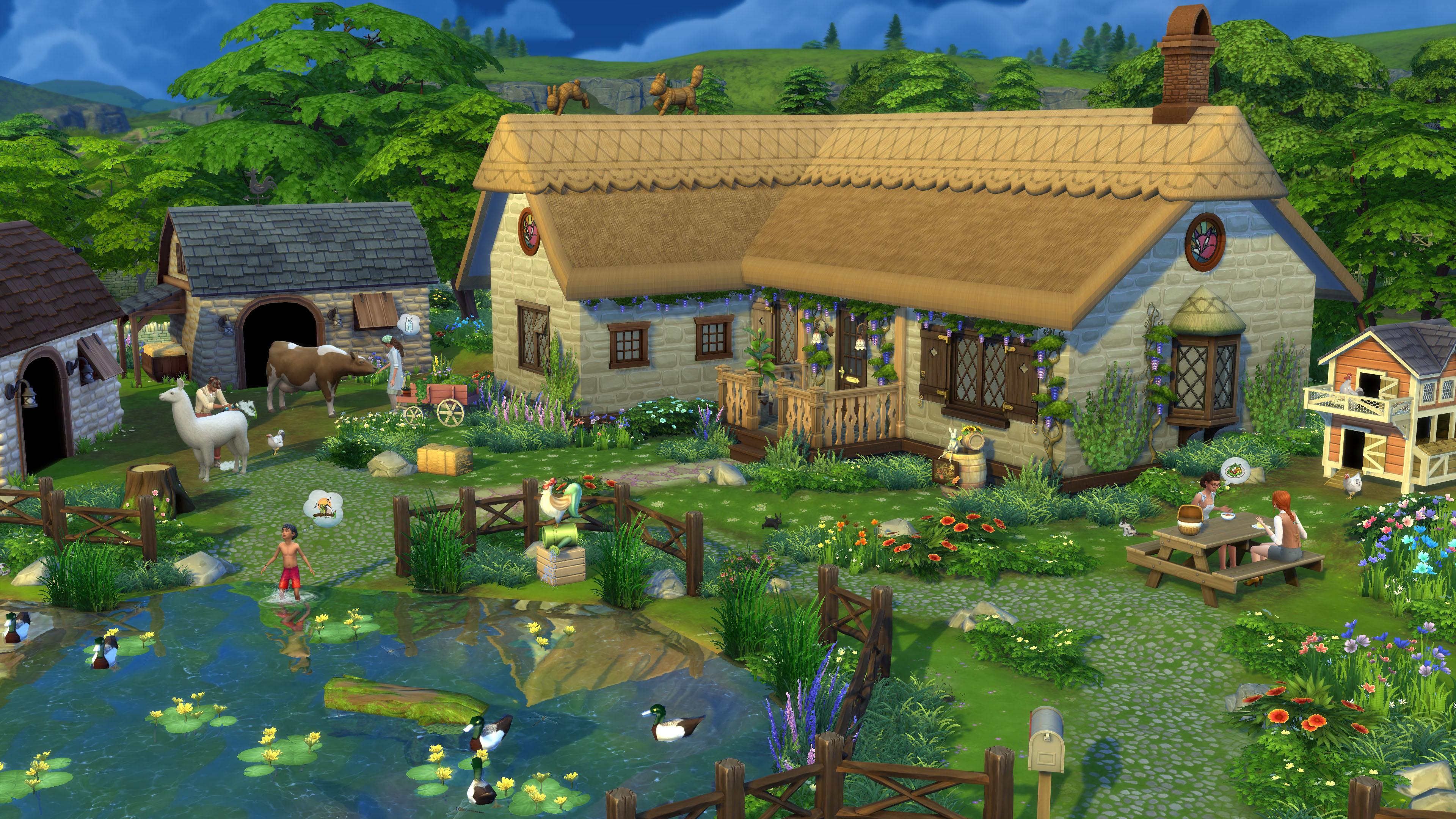 Скриншот №1 к The Sims 4 Загородная жизнь