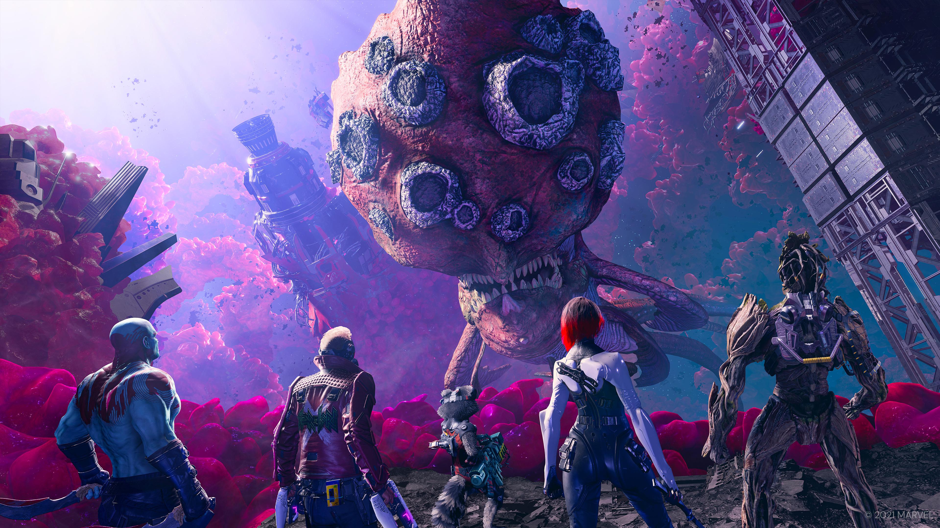 Скриншот №3 к «Стражи Галактики Marvel» цифровое издание Deluxe на PS4 и PS5