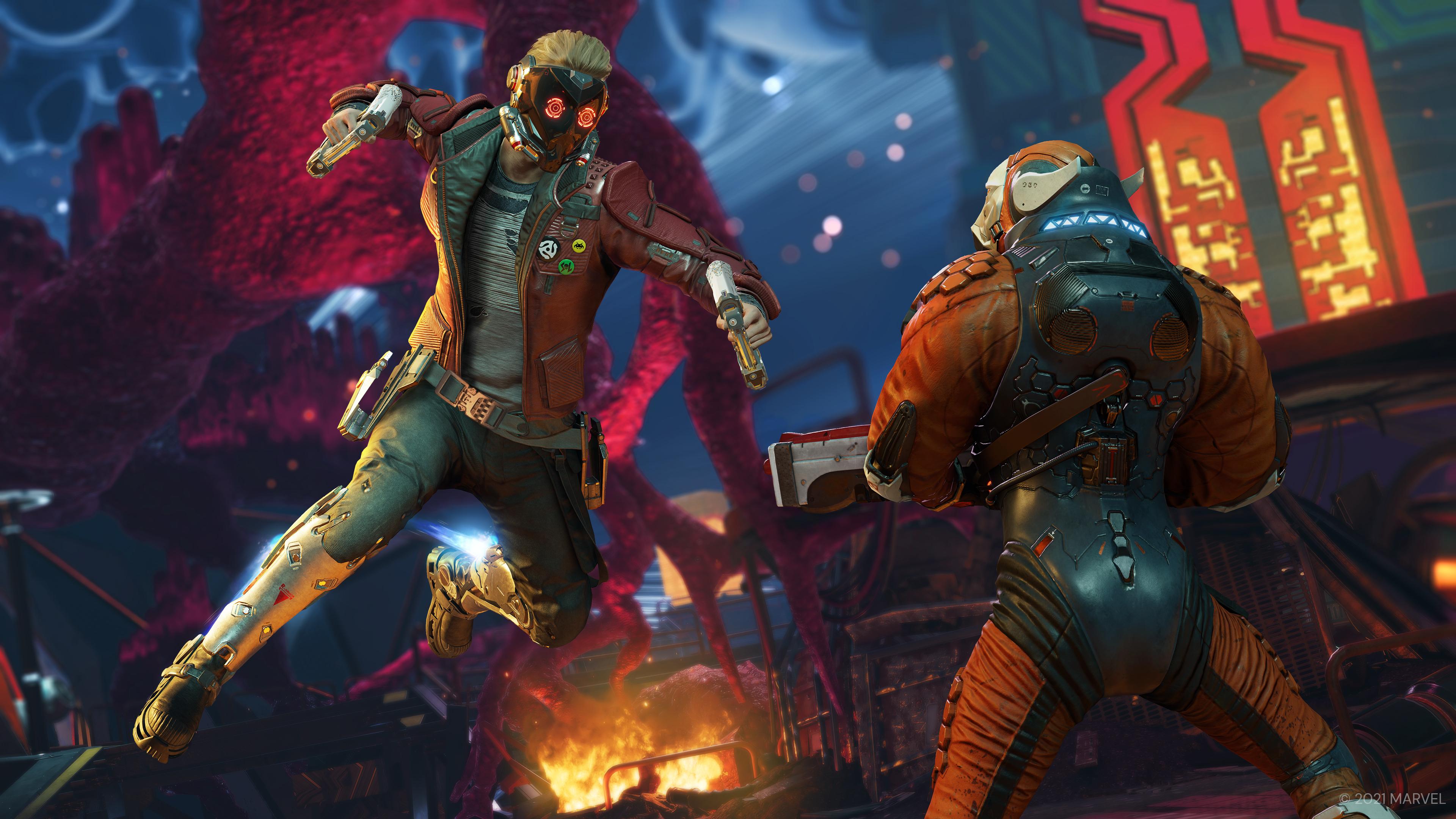 Скриншот №2 к «Стражи Галактики Marvel» цифровое издание Deluxe на PS4 и PS5