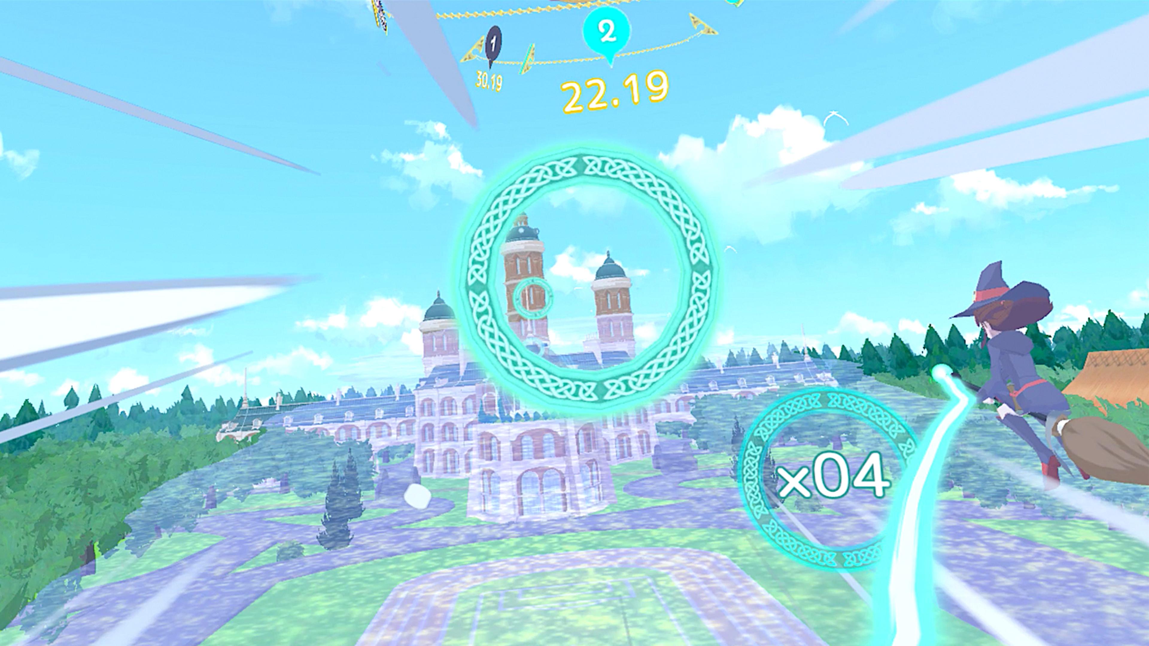 Скриншот №1 к Little Witch Academia VR Broom Racing