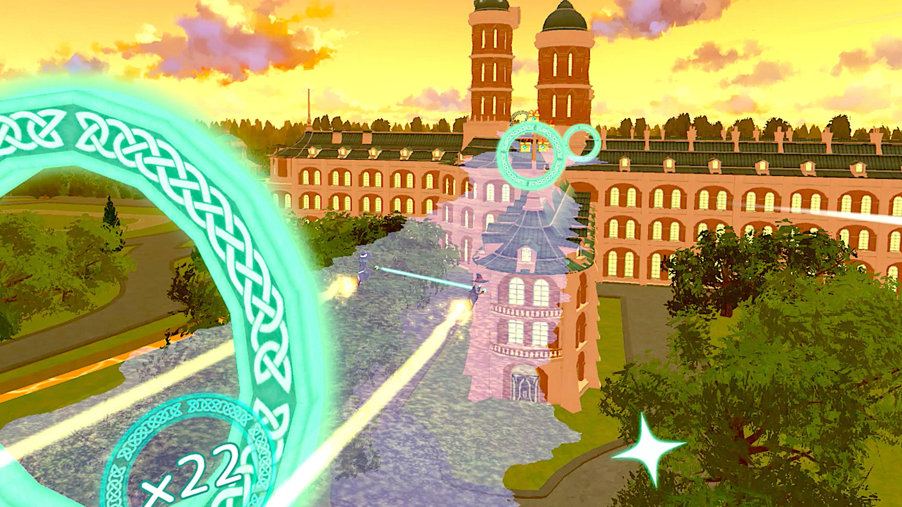 Скриншот №2 к Little Witch Academia VR Broom Racing