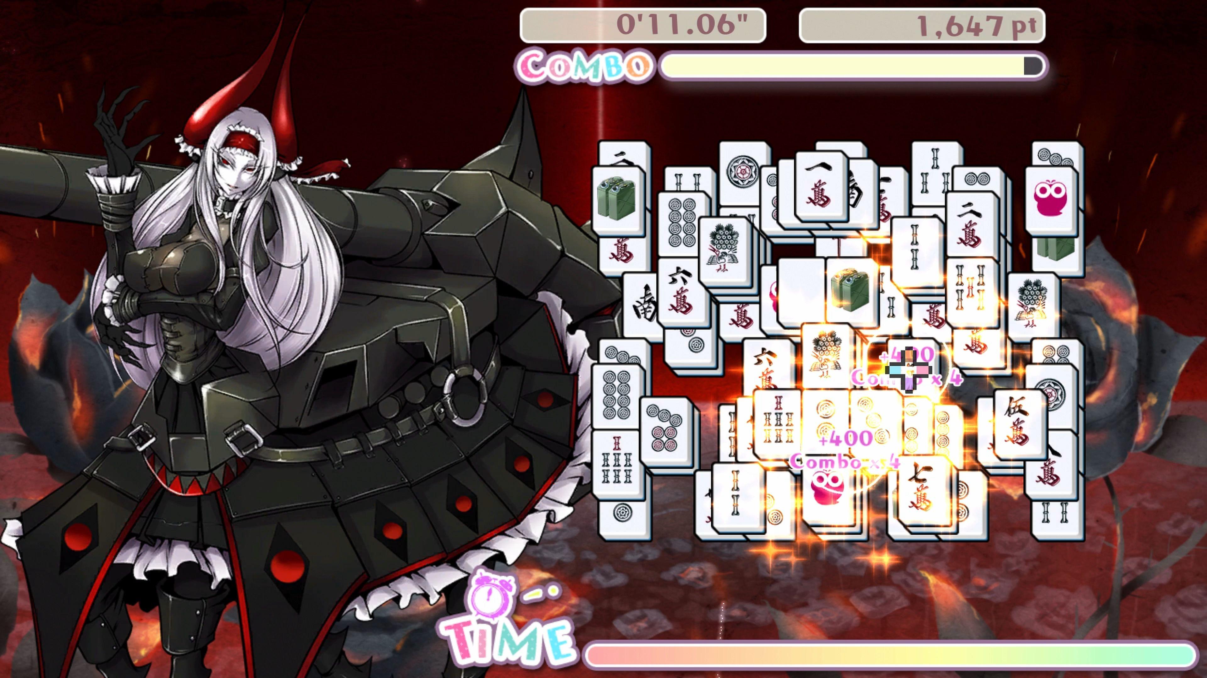 Скриншот №7 к Bishoujo Battle Mahjong Solitaire PS4 and PS5