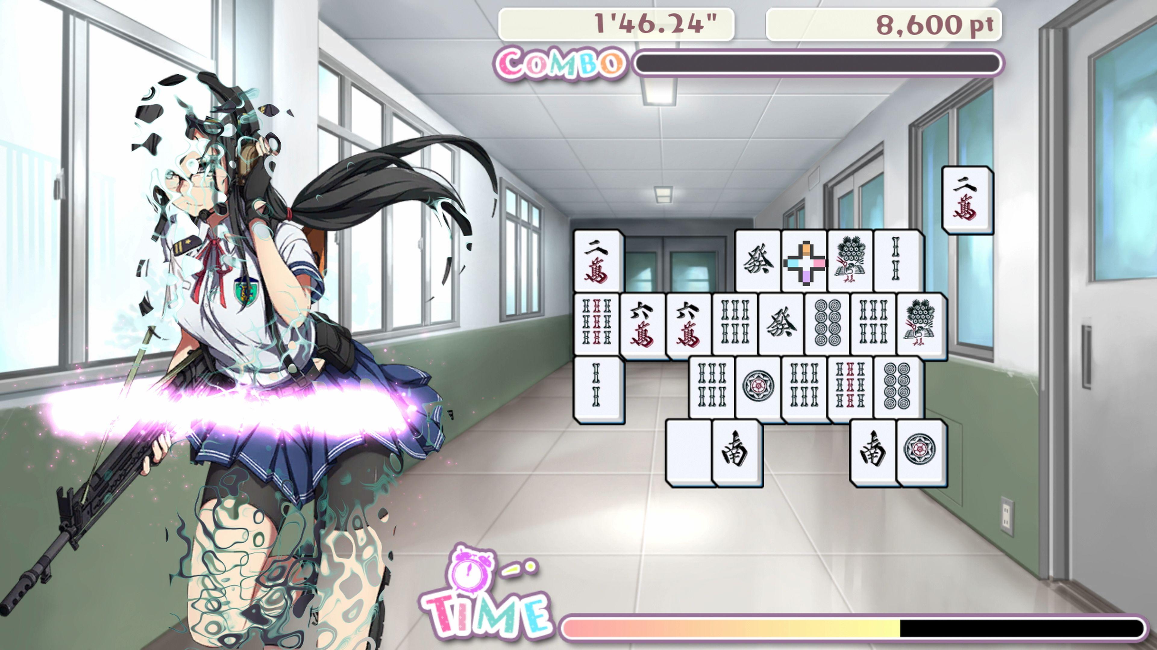 Скриншот №2 к Bishoujo Battle Mahjong Solitaire PS4 and PS5