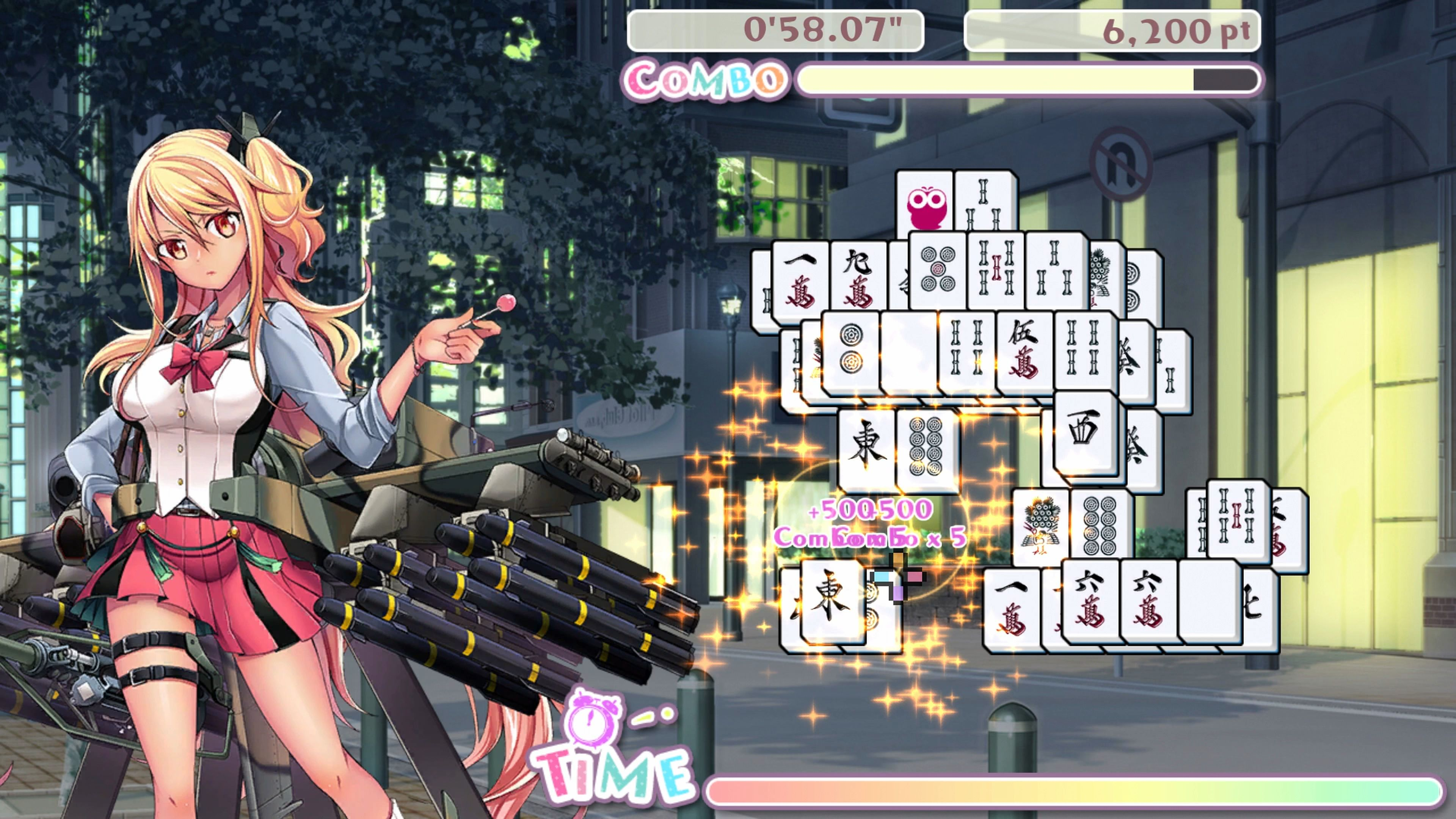 Скриншот №10 к Bishoujo Battle Mahjong Solitaire PS4 and PS5