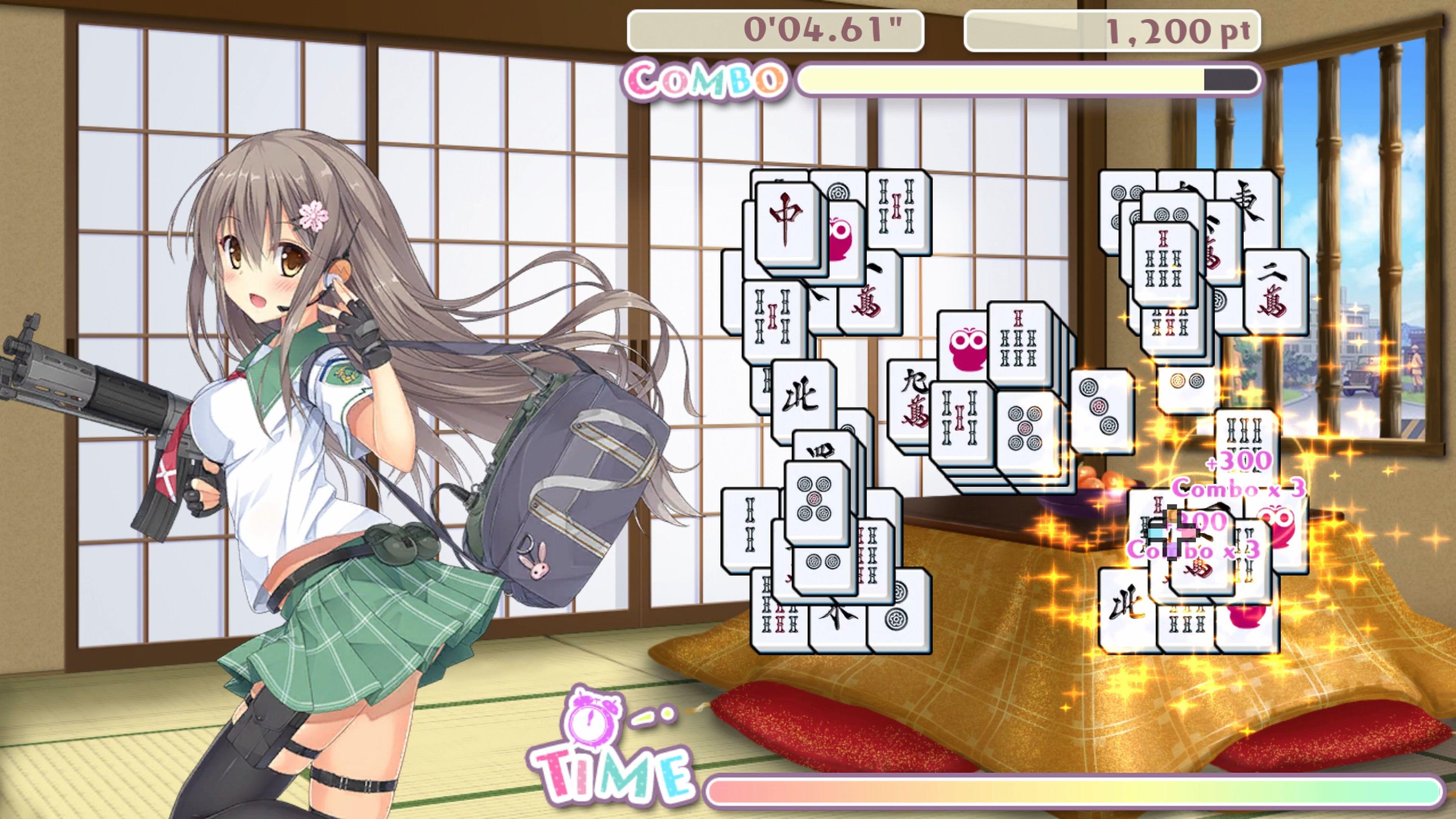 Скриншот №5 к Bishoujo Battle Mahjong Solitaire PS4 and PS5