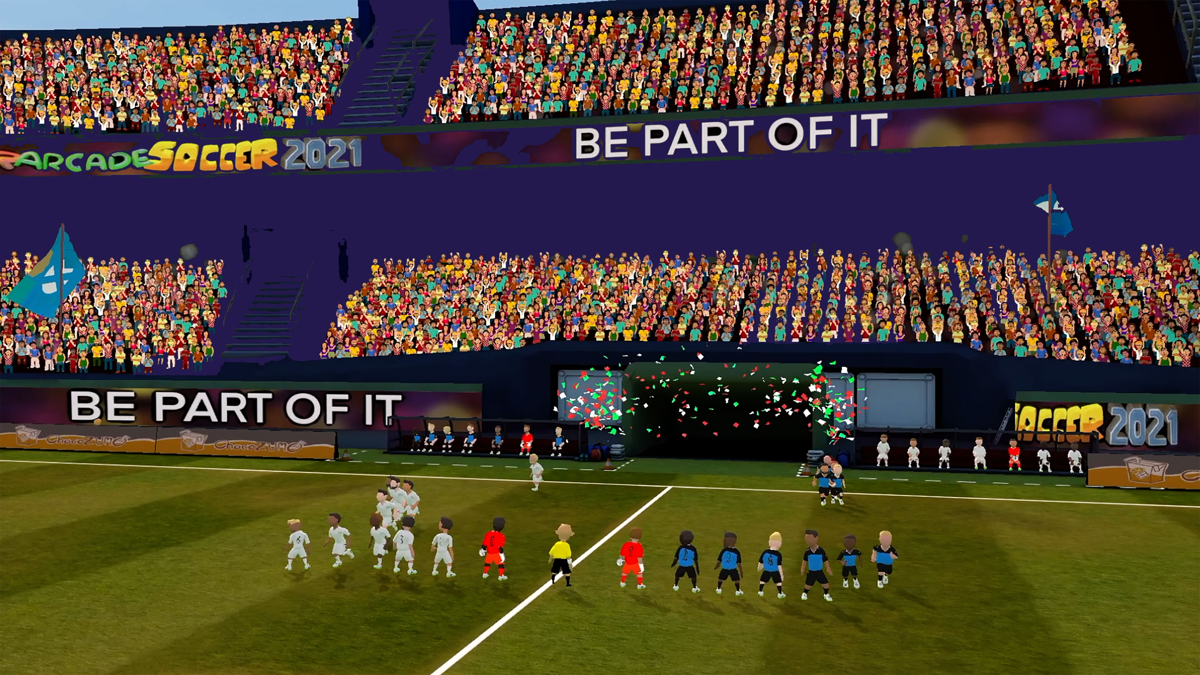 Скриншот №1 к Super Arcade Soccer 2021