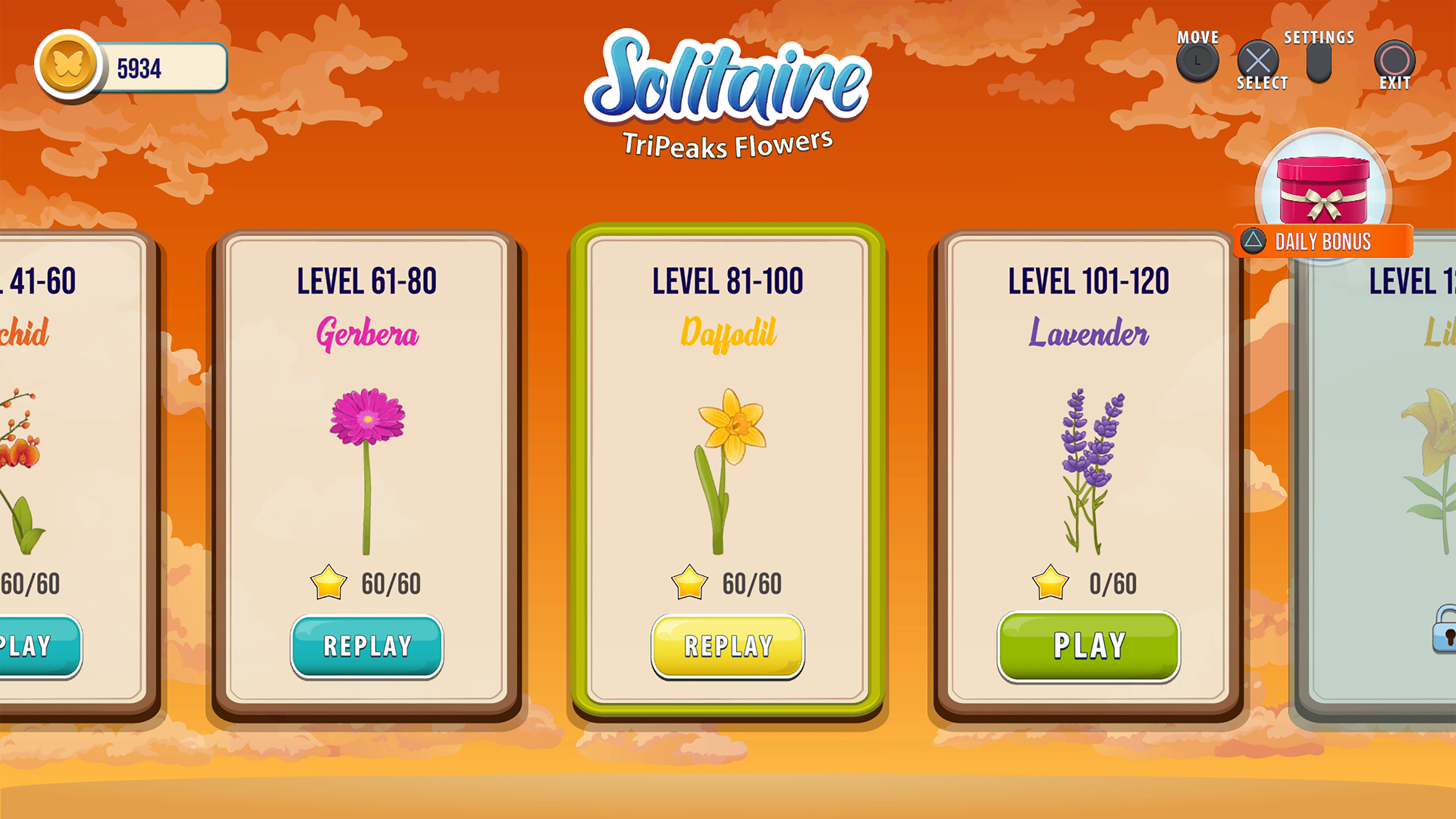 Скриншот №4 к Solitaire Tripeaks Flowers