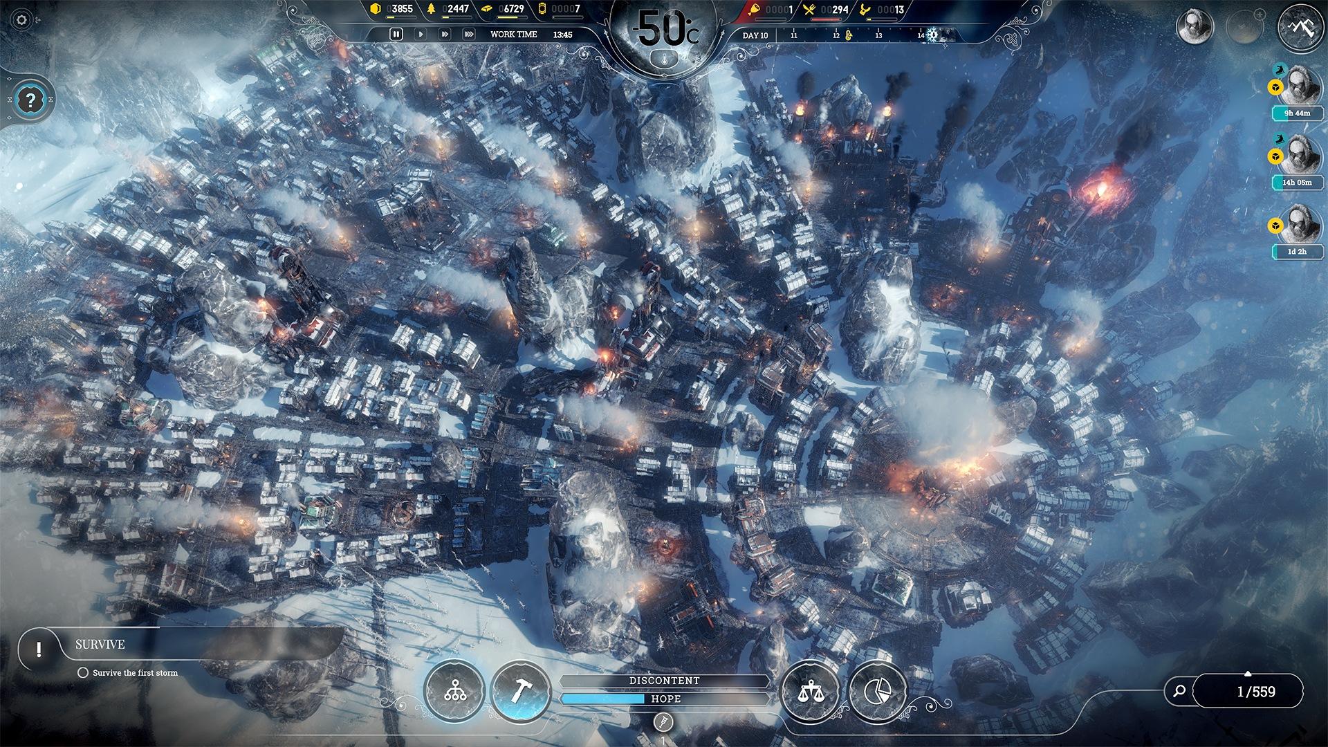 Скриншот №1 к Frostpunk Console Edition