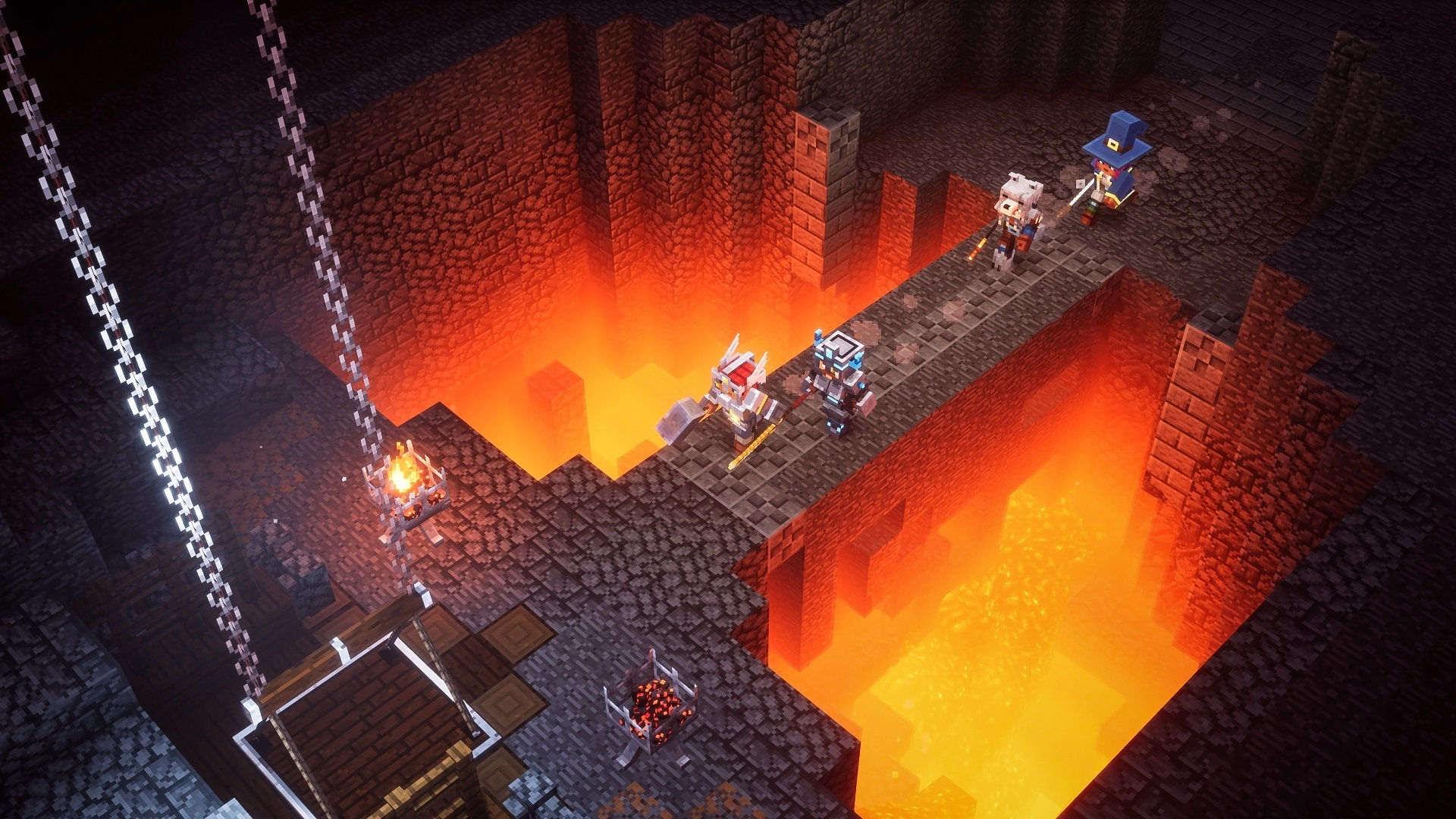 Скриншот №1 к Minecraft Dungeons героическое издание