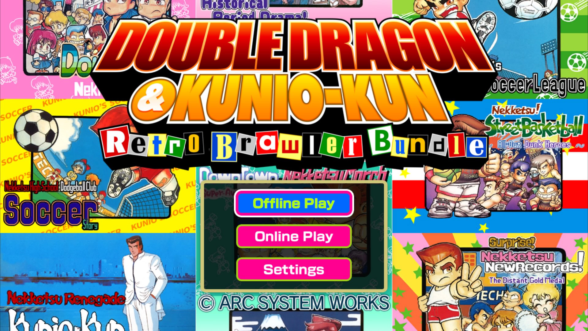 Double Dragon And Kunio Kun Retro Brawler Bundle On Ps4 Official Playstation Store Us
