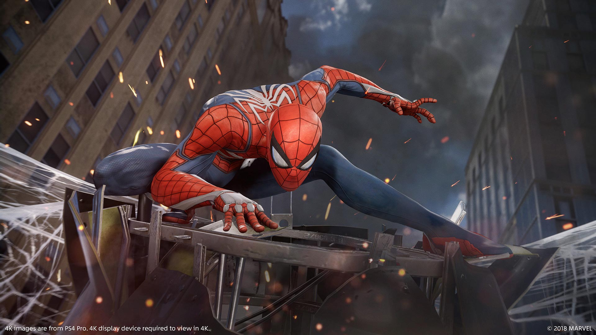 Banner do game Marvels Spider-Man em mídia digital para PS4